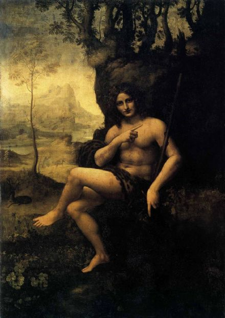 Da Vinci, Leonardo: Saint John (Bacchus) in the Wilderness. Fine Art Print/Poster. Sizes: A4/A3/A2/A1 (00120)